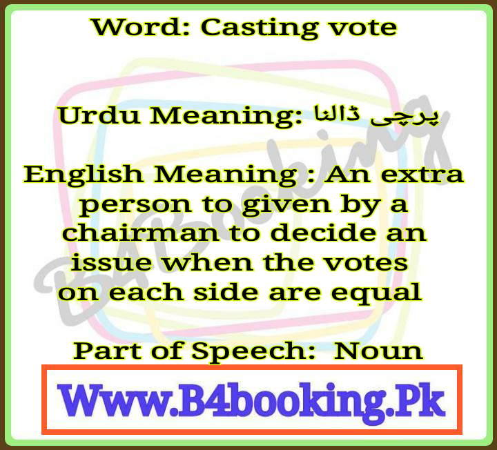 vote meaning in english